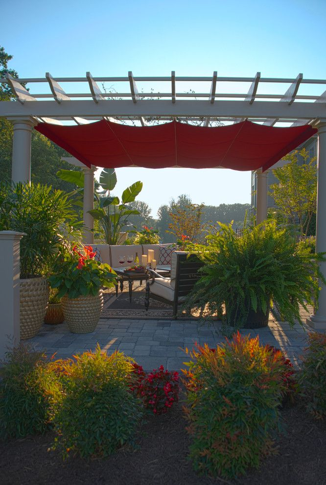 Merrifield Garden Center for a Traditional Patio with a Pergola and Inviting Outdoor Room by Merrifield Garden Center