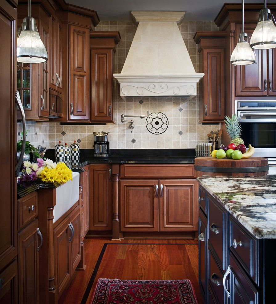 Metal Mart Lehi for a Traditional Kitchen with a Wood Flooring and Traditional Kitchen with Flare by Kitchen & Bath Mart