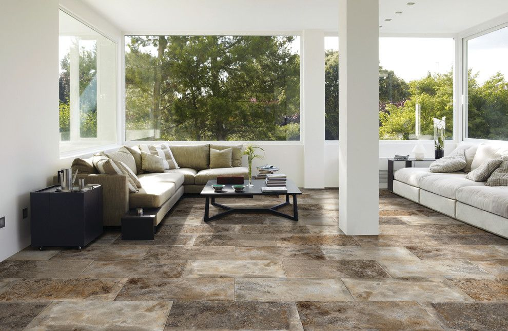 Metropolitan Bath and Tile for a Contemporary Sunroom with a Contemporary and Floor & Decor by Floor & Decor