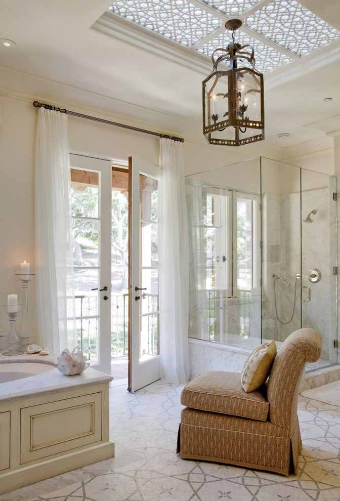 Metropolitan Bath and Tile for a Traditional Bathroom with a Mediterranean and Enchanted Oaks by Tucker & Marks
