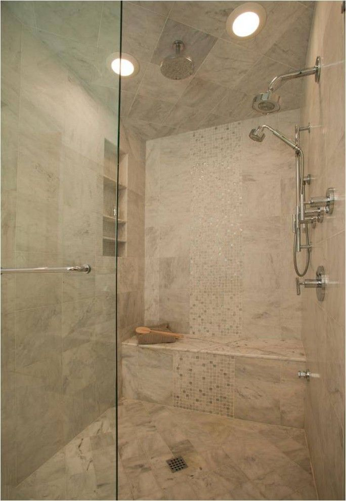 Mid America Tile for a Traditional Bathroom with a Bench Seating and Beautiful Steam Shower by T.r. Builder, Inc.