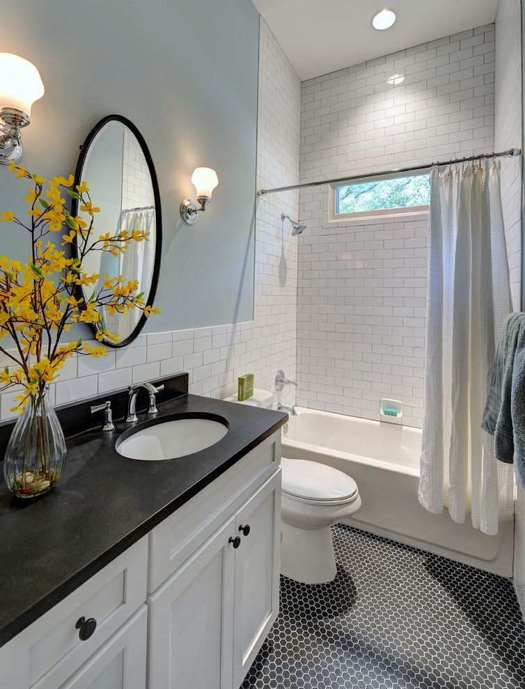 Mid America Tile for a Traditional Bathroom with a Sconce and Hill Street Hacienda by Carl Mattison Design