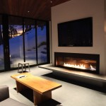 Mid Century Modern for a Contemporary Family Room with a Fireplace and Squaw Valley House by Fleetwood Windows & Doors