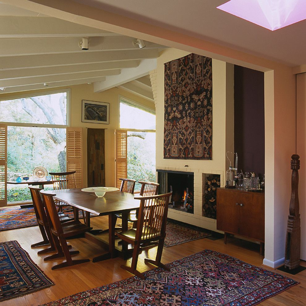 Mid Century Modern for a Midcentury Dining Room with a Oriental Rug and Mid-Century Modern Home by Johnson Berman