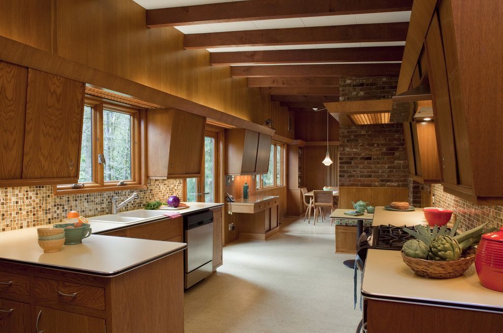 Mid Century Modern for a Midcentury Kitchen with a Vintage and Mid Century Modern Home by Craftsman Design and Renovation
