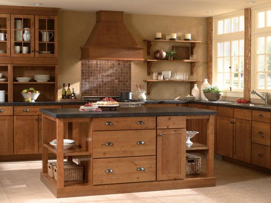 Mid Continent Cabinetry for a Rustic Kitchen with a Designer Cabinets and Mid Continent Cabinetry by Designer Cabinets
