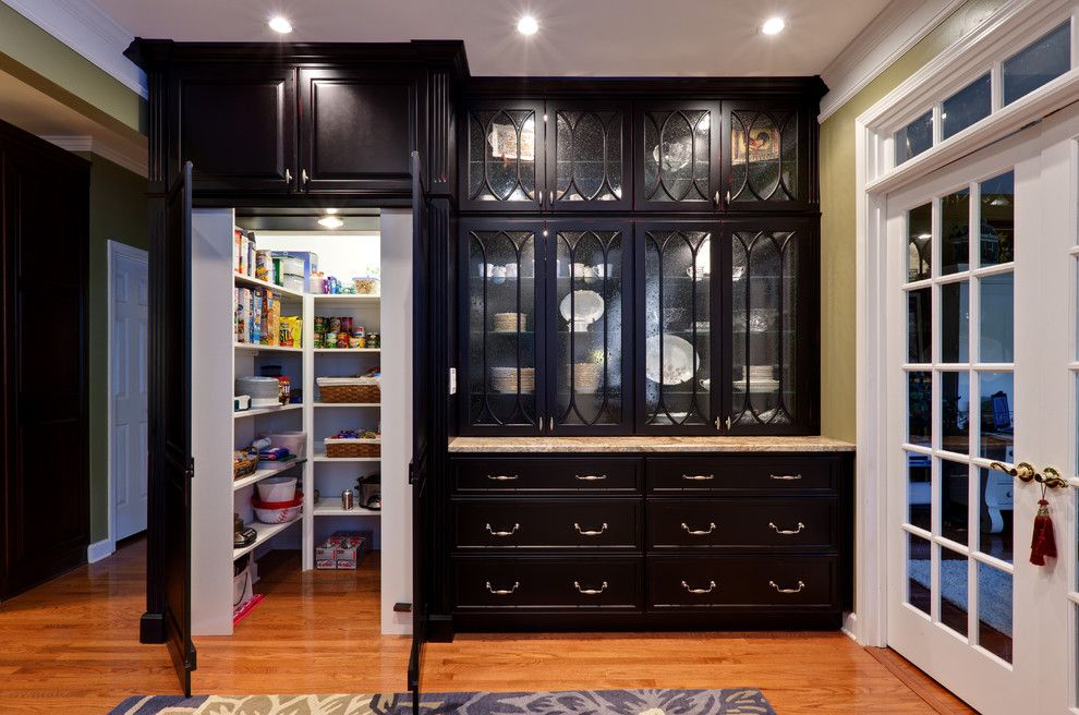 Mid Continent Cabinets for a Traditional Kitchen with a Dining Hutch and Teri Turan by Turan Designs, Inc.