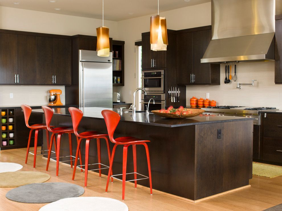 Midcentury Modern for a Midcentury Kitchen with a Seattle and Mid Century Modern Residence by Marilyn Deering Design