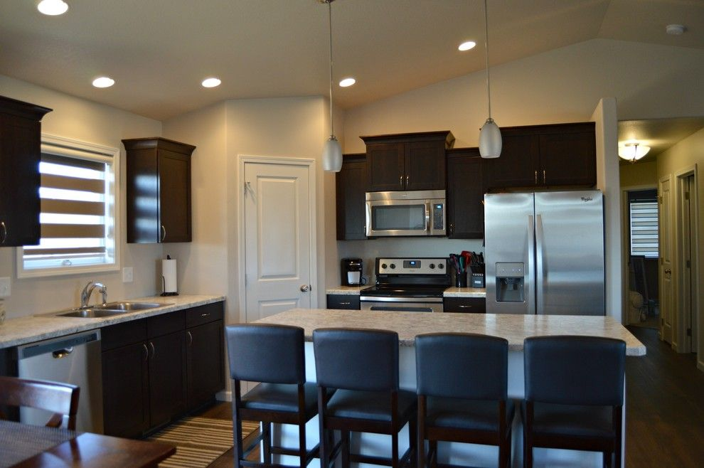 Midcontinent Cabinetry for a Modern Spaces with a Custom Counter Tops and Concord Espresso by Floor to Ceiling Carpet One