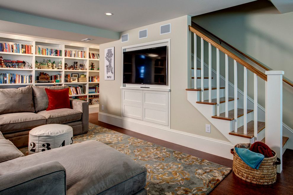 Midwest Basement Systems for a Traditional Basement with a Recessed Lights and Light Filled Basement by Board and Vellum