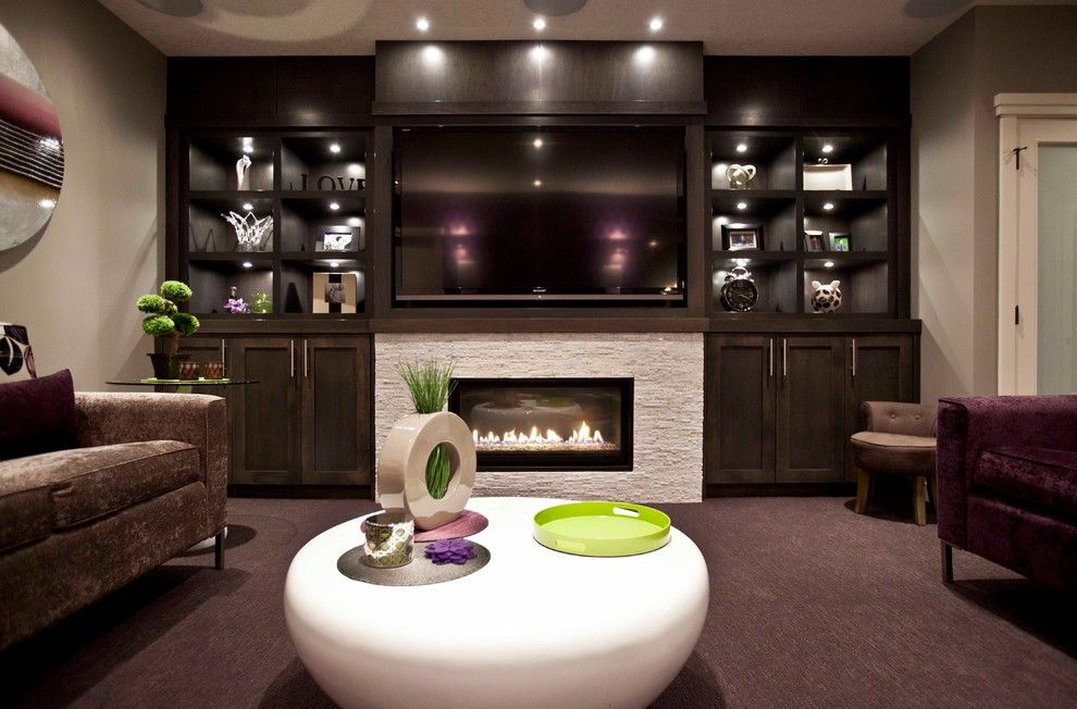 Midwest Basement Systems for a Transitional Basement with a Contemporary and Contemporary Basement by Urban Abode