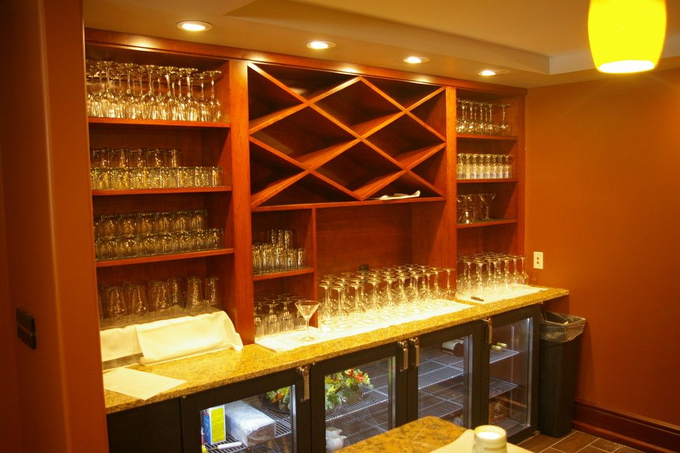 Milliken Millwork for a Modern Home Bar with a Cherry and Senior Living Center and Condos by Thomas & Milliken Millwork, Inc.