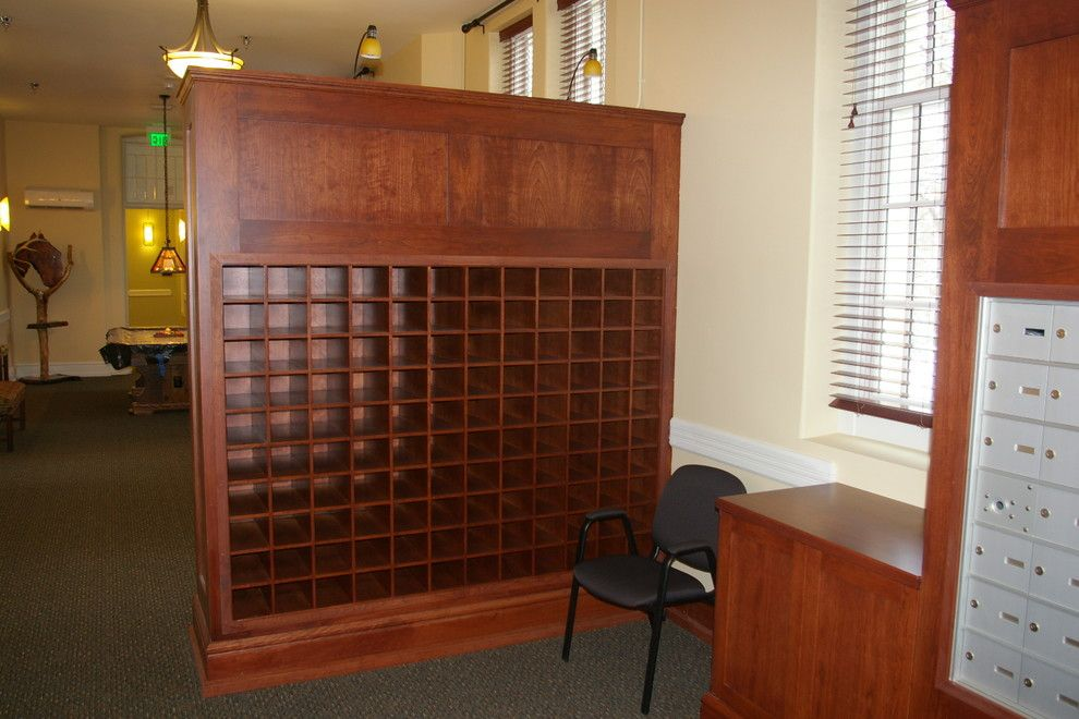 Milliken Millwork for a Traditional Home Office with a Wood Cubblies and Senior Living Center and Condos by Thomas & Milliken Millwork, Inc.
