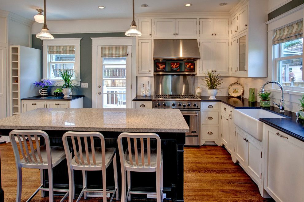 Miniwax For A Craftsman Kitchen With A Glass Cabinets And Bellevue House By  Kathryn Tegreene Interior