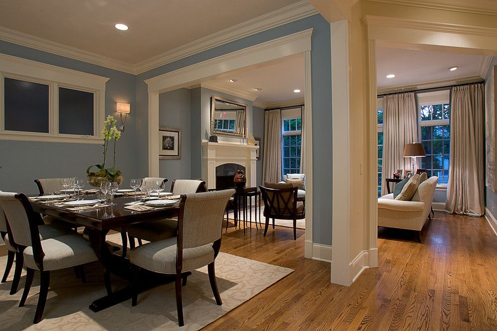 Minwax Colors for a Traditional Dining Room with a Baseboards and Dining Room by Michael Abrams Limited