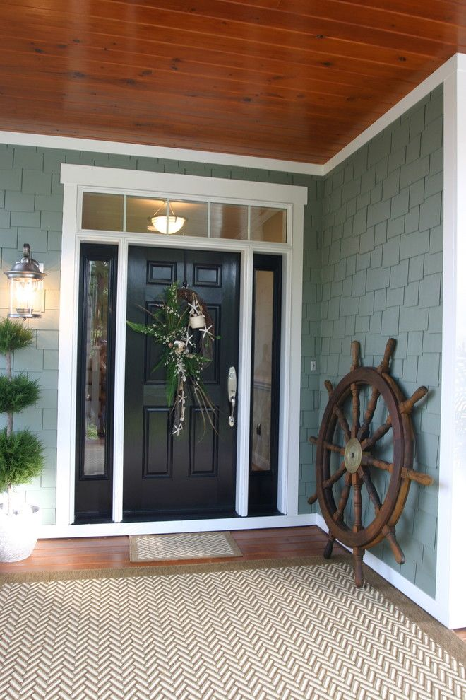 Minwax Colors for a Traditional Entry with a Wood Paneling and River Cottage #3 by Tab Premium Built Homes