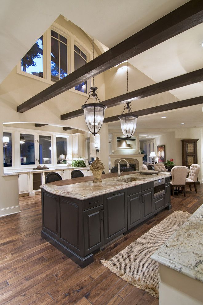Minwax Colors for a Traditional Kitchen with a Kitchen Island and Spur Road   Edina, Mn by Schrader & Companies