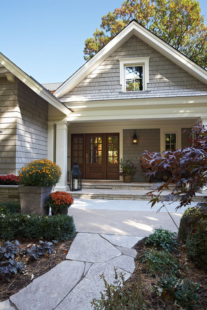Minwax Dark Walnut for a Traditional Exterior with a Lantern and Lake County Builders by Lake Country Builders