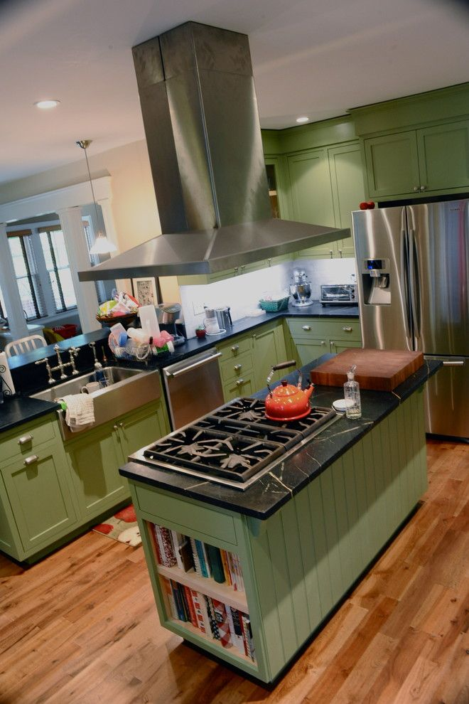 Minwax for a Traditional Kitchen with a Stainless Steel Sink and Kitchen and Family Room Renovation by Sarahandgarth