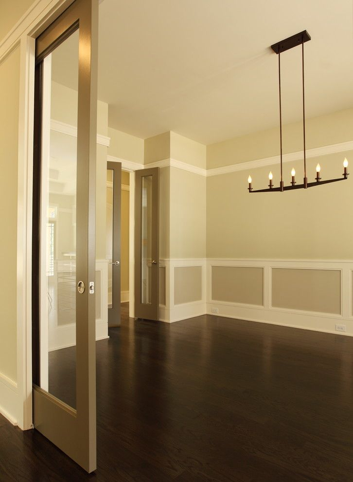 Minwax for a Transitional Spaces with a Chandelier and Jr Mcdowell Homes by Jr Mcdowell Homes