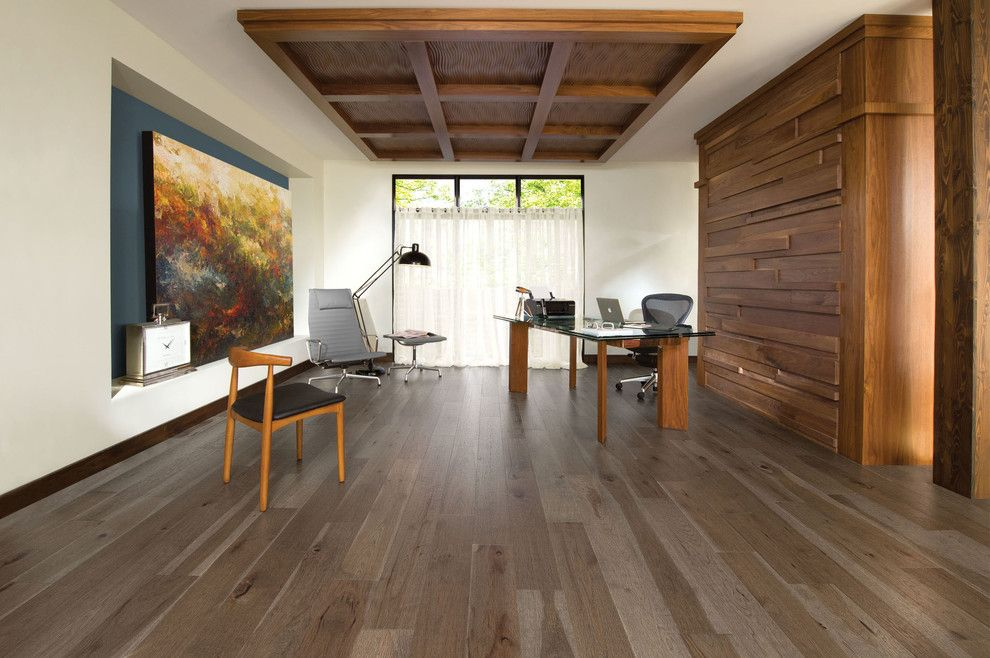 Mirage Flooring for a Mediterranean Home Office with a Office Space and Mirage Floors by Cheaperfloors