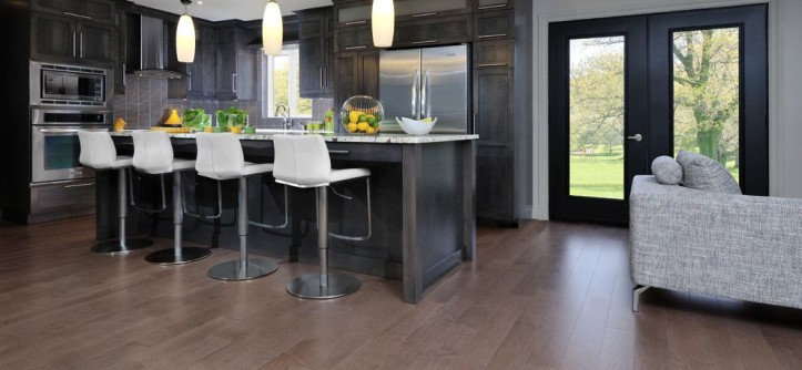 Mirage Hardwood for a Contemporary Kitchen with a Wood Flooring and Hardwood Flooring by Migala Carpet One