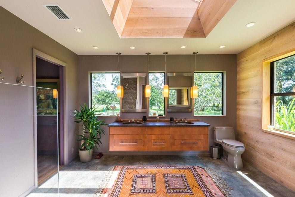 Missing Piece Tampa for a Contemporary Bathroom with a Skylight and Master Bath/Master Bed Addition by Macale Builders, Inc.