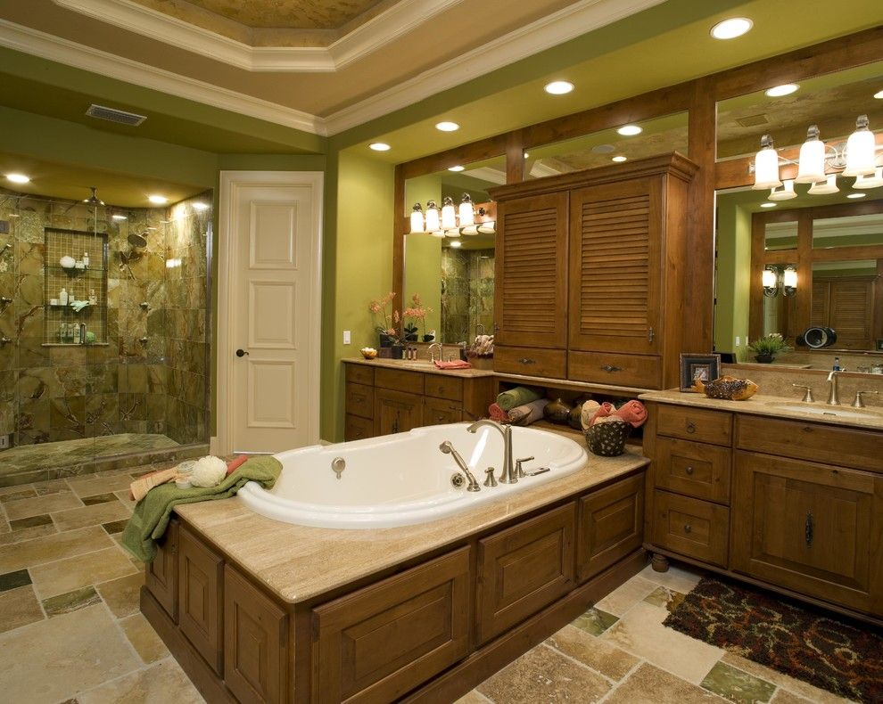 Missing Piece Tampa for a Mediterranean Bathroom with a Siesta Key Custom Home Builder and Cetona by Peregrine Homes