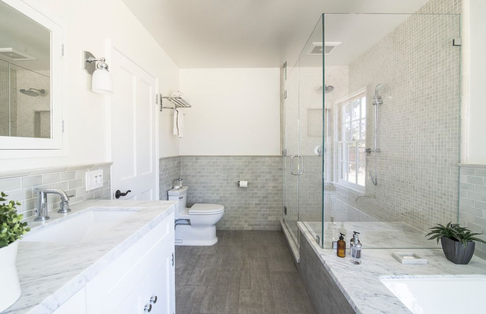 Mission Tile West for a Traditional Bathroom with a Mirror and Hiawatha Residence by Mission Tile West