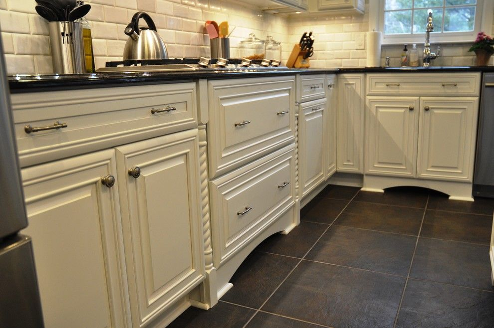 Mission Tile West for a Traditional Kitchen with a Kitchen and ...