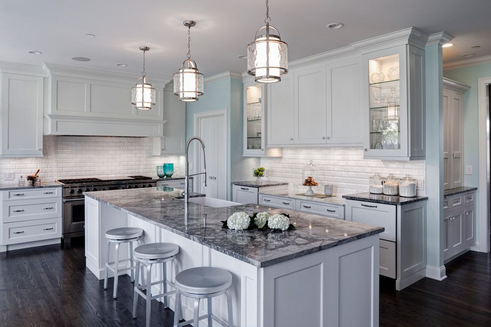 M&m Lighting for a Traditional Kitchen with a Neutral Colors and Fresh Traditional Aurora Il Kitchen Design and Remodel by Drury Design