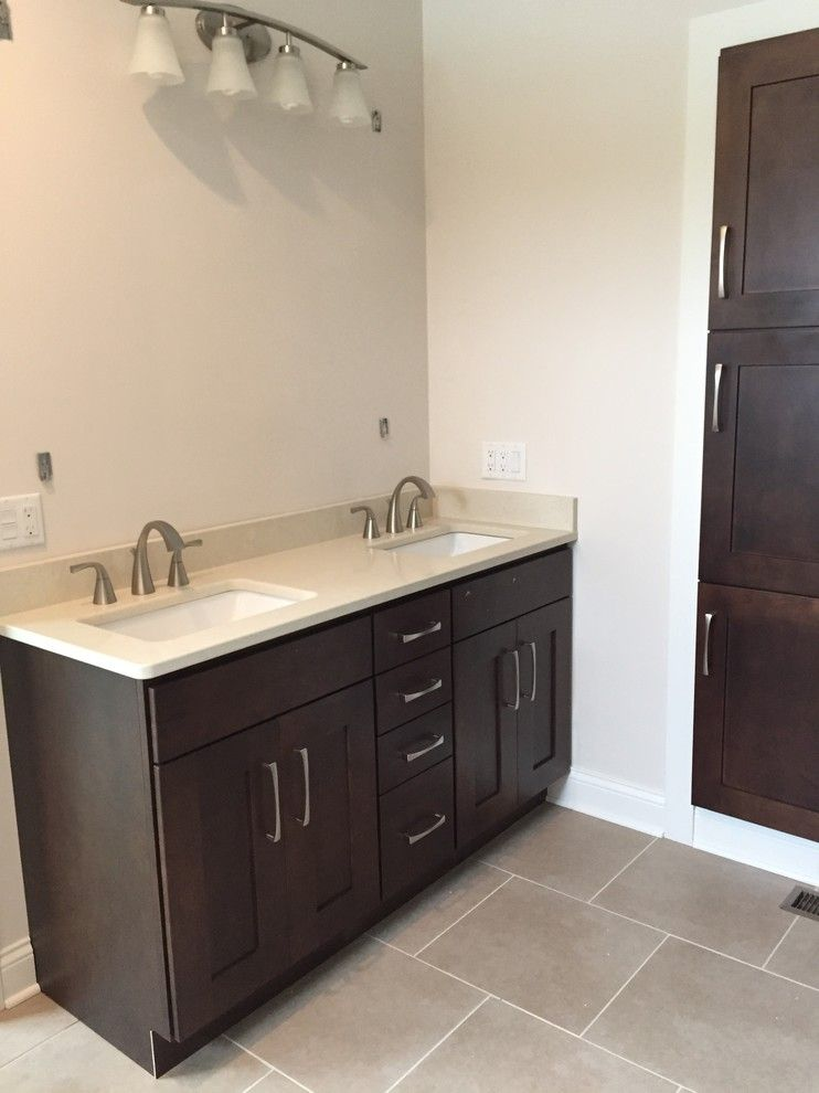 Modern Builders Supply for a Transitional Bathroom with a Shaker Style and Somerset New Build by Britany Grieger with Modern Builders Supply
