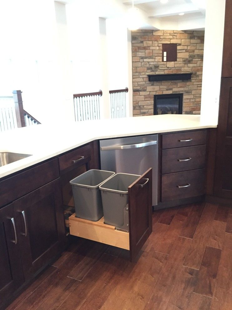 Modern Builders Supply for a Transitional Kitchen with a Starmark Cabinetry and Somerset New Build by Britany Grieger with Modern Builders Supply