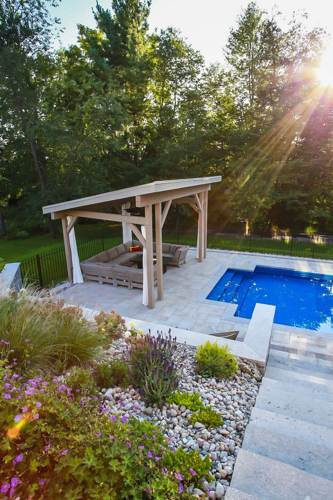 Modern Cabana for a Modern Patio with a Fire Feature and Pool Cabana by Total Living Concepts