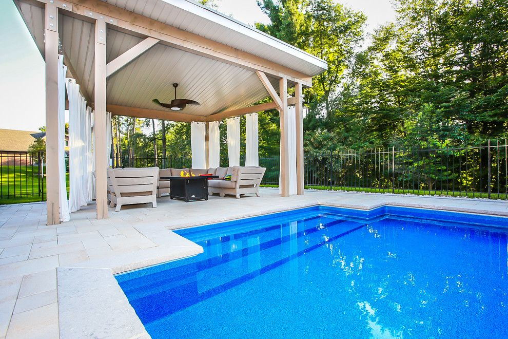 Modern Cabana for a Modern Patio with a Modern Cabana and Pool Cabana by Total Living Concepts