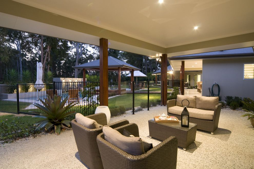 Modern Cabana for a Modern Patio with a Seating Area and Modern Country by Soul Space