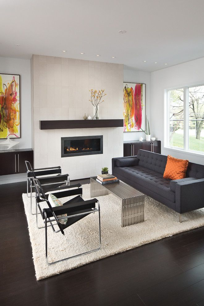 Modernlinefurniture for a Contemporary Living Room with a Modern Chairs and Modern White Counters by Adam Gibson Design