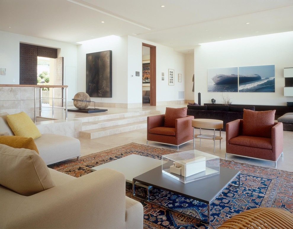 Modernlinefurniture for a Contemporary Living Room with a Square Coffee Table and Contemporary Beach Residence by Island Architects