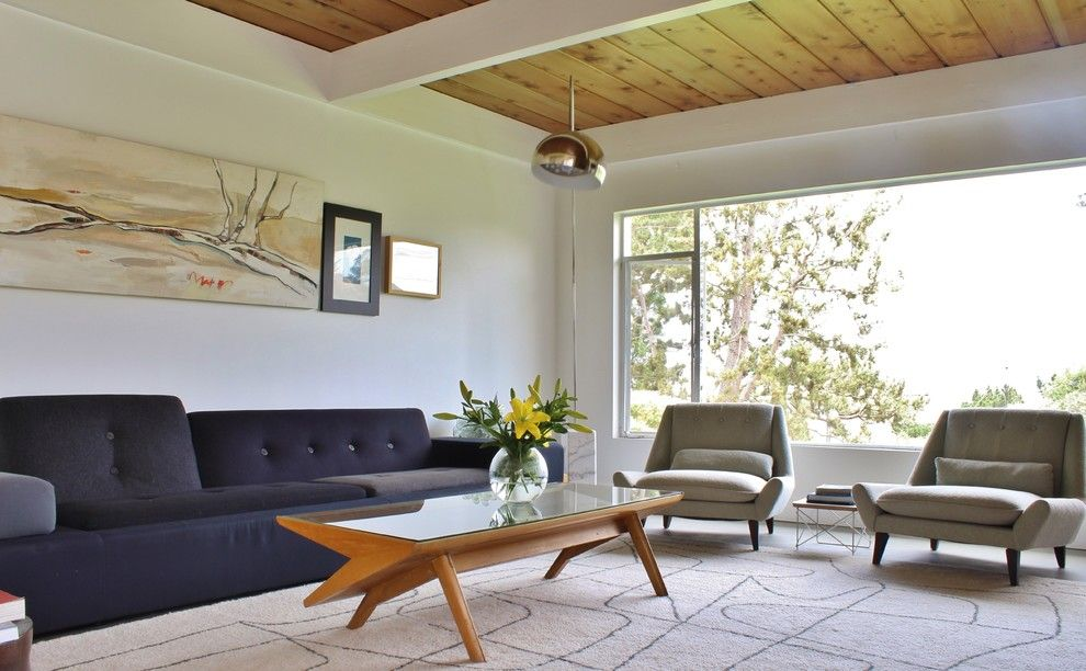 Modernlinefurniture for a Midcentury Living Room with a Rambler and Midcentury in Del Mar by Kimberley Bryan
