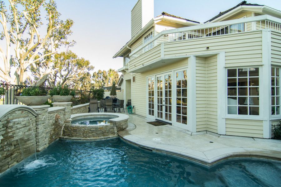 Monarch Pools for a Traditional Pool with a Traditional and Beautiful Monarch Beach Remodel by Karen Hakola - Realtor at Hakola & Associates