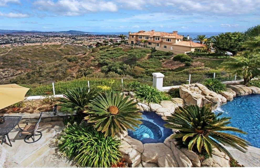 Monarch Pools for a Tropical Pool with a Laguna Niguel and 31782 Isle Vista, Laguna Niguel by Karigan Residential
