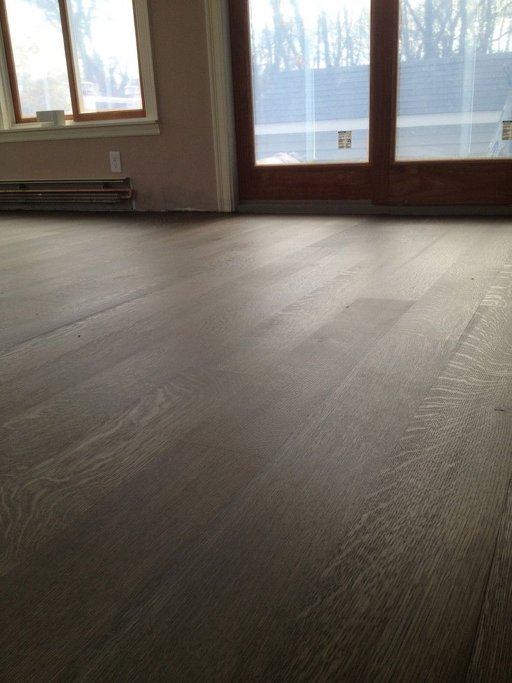 Monocoat for a Modern Spaces with a Dustless Sanding and Fumed Rubio Monocoat by Eco Options Hardwood