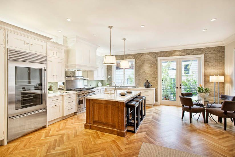 Monocoat for a Traditional Kitchen with a Herringbone and Steiner Renovation by Amber Flooring