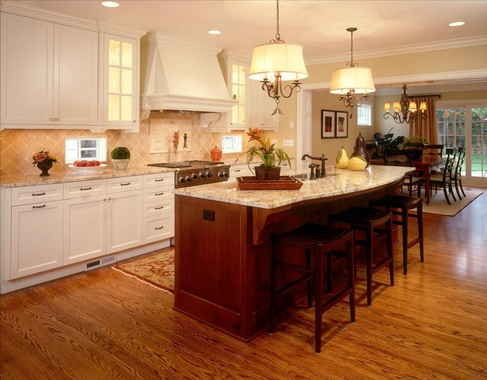 Monroe Bisque for a Traditional Kitchen with a Rustic Stools and Drexel Avenue 2 Residence Kitchen by Martha O'hara Interiors