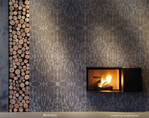 Mont Granite for a Modern Spaces with a Mantel and Elegant Fireplace Surround by Mont Surfaces by Mont Granite