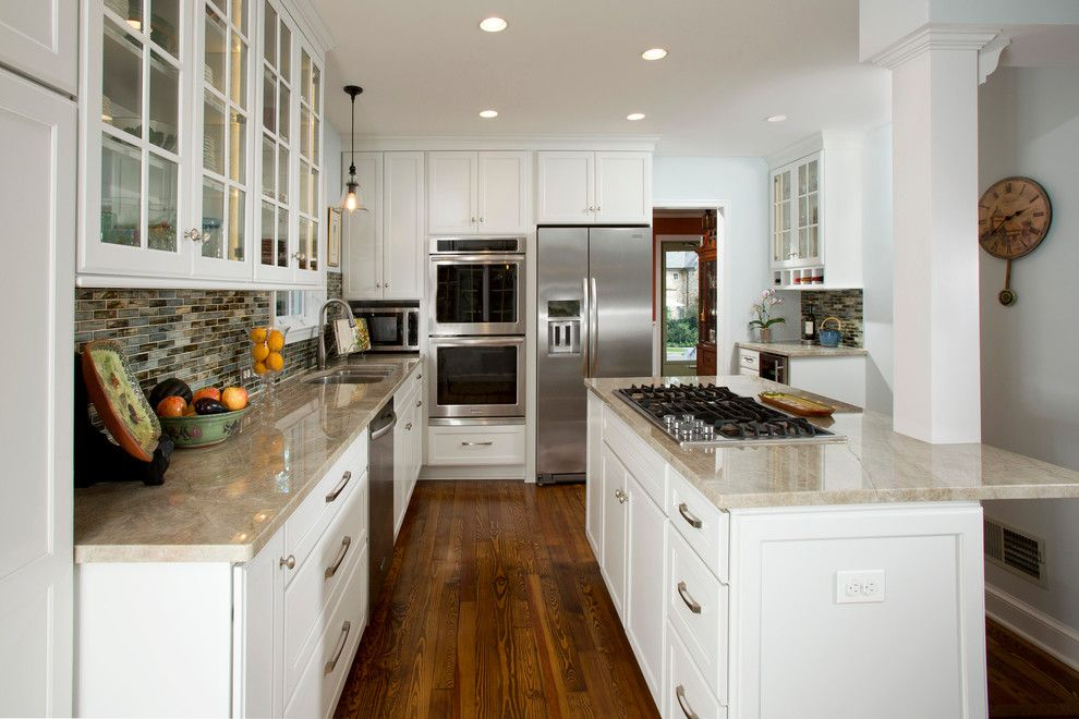 Mont Granite for a Traditional Kitchen with a Arlington Architect and Alexandria Cozy White Kitchen by Harry Braswell Inc.