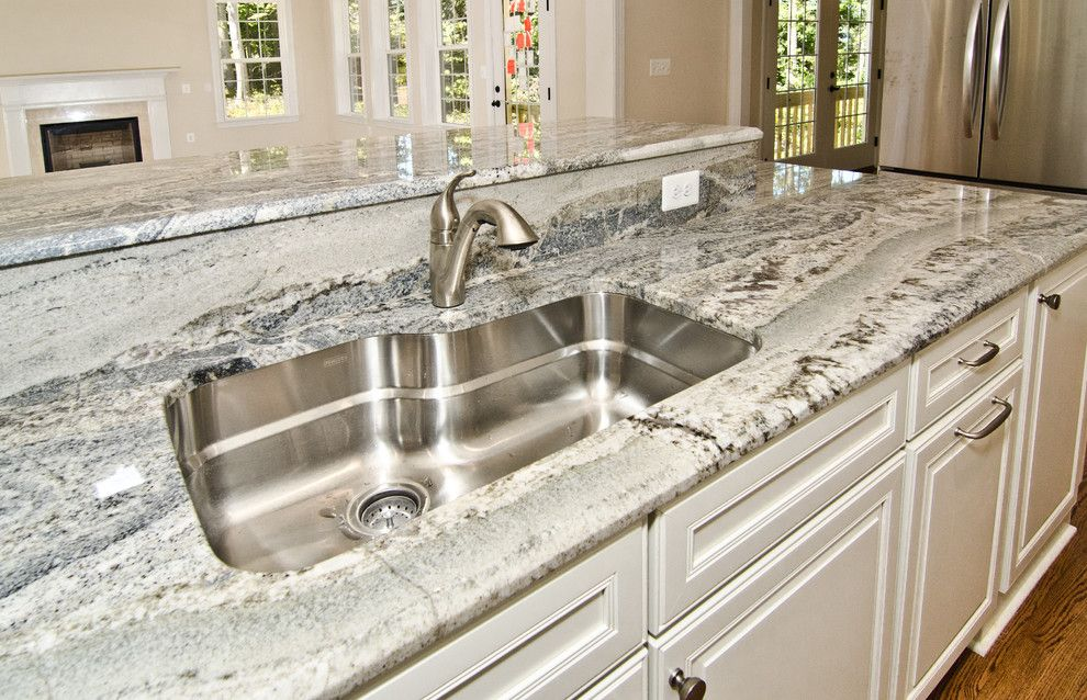 Mont Granite for a Traditional Kitchen with a Grey Granite and Monte Cristo Granite in Owings, Md by Granite Grannies