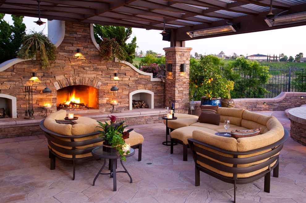 Mor Furniture for Less for a Mediterranean Patio with a Rebecca Johnston and Outdoor Living by R Johnston Interiors
