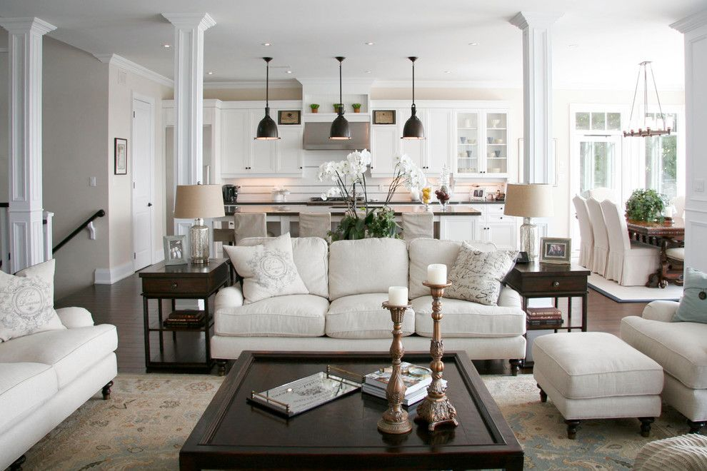 Mor Furniture for Less for a Traditional Living Room with a White Kitchen and Barrie Residence by Staples Design Group