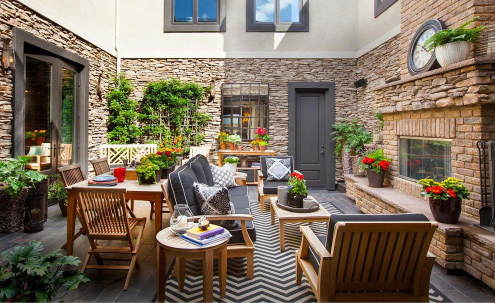 Mor Furniture San Diego for a Beach Style Patio with a Beach Inspired and Outdoor Courtyard Living Space by Robeson Design